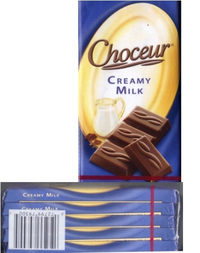 Choceur Chocolate Tablets - Creamy Milk Chocolate Bars 1.4oz/40g